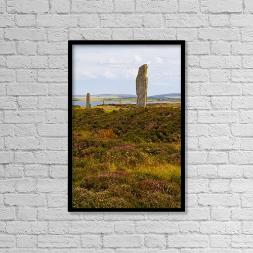 "Printscapes Wall Art: 12"" x 18"" Canvas Print With Black Frame - Ring Of Brodgar; Orkney, Scotland by Kav Dadfar"