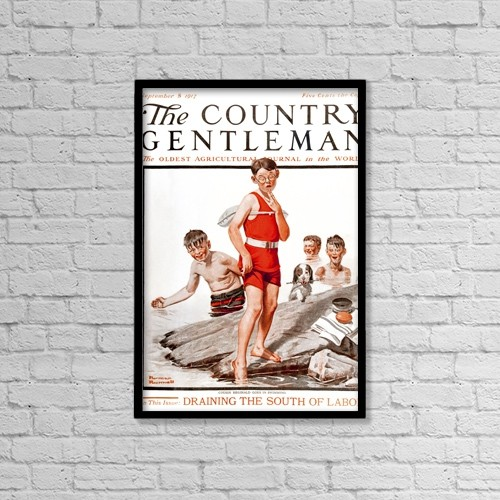 """Printscapes Wall Art: 12"""" x 18"""" Canvas Print With Black Frame - Creative Imagery by Remsberg Inc"""