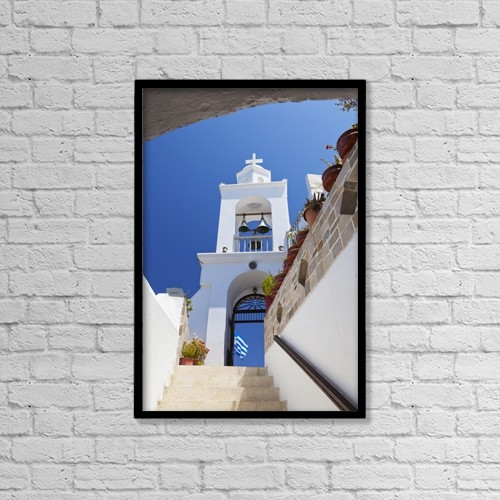 "Printscapes Wall Art: 12"" x 18"" Canvas Print With Black Frame - Panagia Spiliani; Panagia, Greece by Terence Waeland"