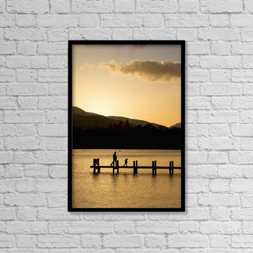 "Printscapes Wall Art: 12"" x 18"" Canvas Print With Black Frame - Lifestyle by John Short"