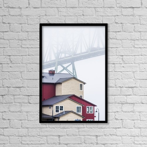 """Printscapes Wall Art: 12"""" x 18"""" Canvas Print With Black Frame - Architectural Exteriors by Robert L. Potts"""