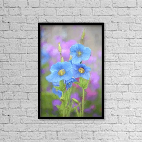 """Printscapes Wall Art: 12"""" x 18"""" Canvas Print With Black Frame - Flowers by Marion Owen"""
