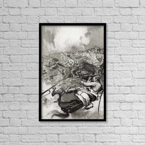 "Printscapes Wall Art: 12"" x 18"" Canvas Print With Black Frame - Creative Imagery by Hilary Jane Morgan"