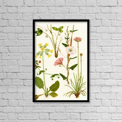 "Printscapes Wall Art: 12"" x 18"" Canvas Print With Black Frame - Wildflowers by Hilary Jane Morgan"