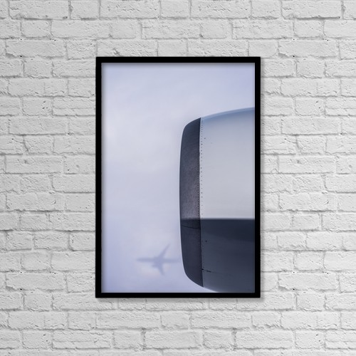 "Printscapes Wall Art: 12"" x 18"" Canvas Print With Black Frame - Transportation by Robert L. Potts"