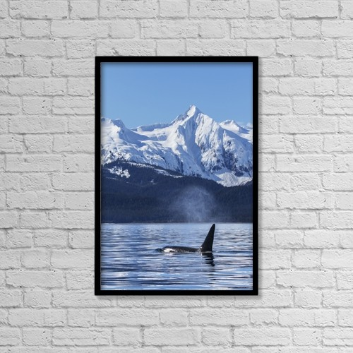 "Printscapes Wall Art: 12"" x 18"" Canvas Print With Black Frame - Marine Life by John Hyde"
