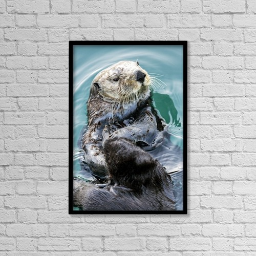 "Printscapes Wall Art: 12"" x 18"" Canvas Print With Black Frame - Marine Life by Ray Bulson"
