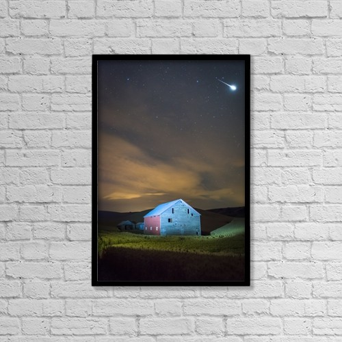 """Printscapes Wall Art: 12"""" x 18"""" Canvas Print With Black Frame - Astronomy by Marg Wood"""