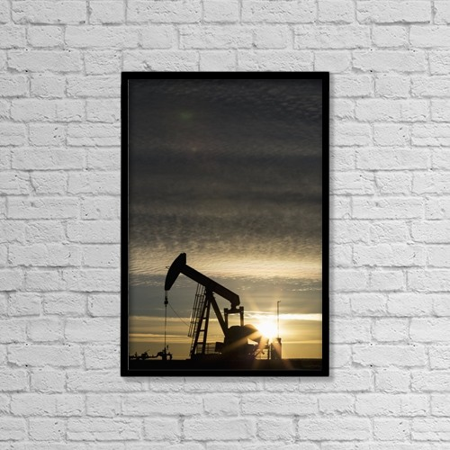 "Printscapes Wall Art: 12"" x 18"" Canvas Print With Black Frame - Industry by Michael Interisano"