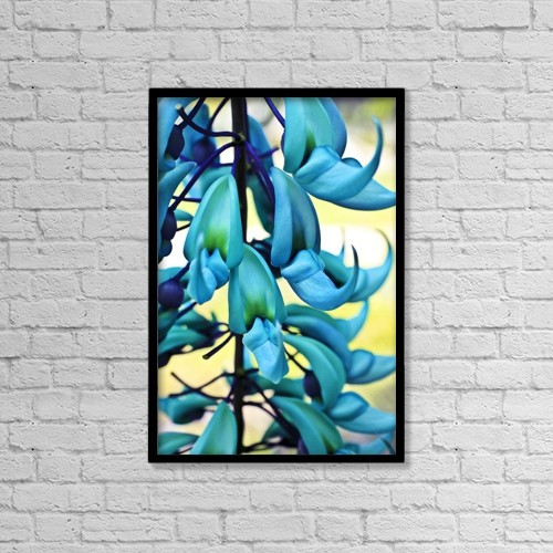 "Printscapes Wall Art: 12"" x 18"" Canvas Print With Black Frame - Blue Jade Plant by Scott Mead"