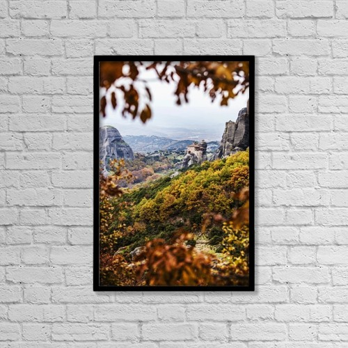 "Printscapes Wall Art: 12"" x 18"" Canvas Print With Black Frame - Holy Monastery Of St by Reynold Mainse"
