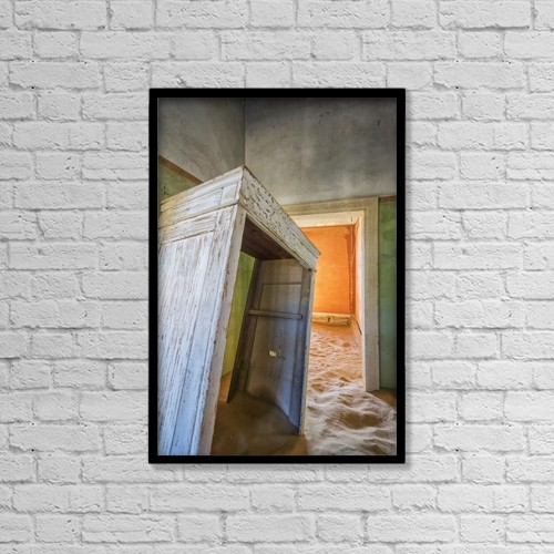 "Printscapes Wall Art: 12"" x 18"" Canvas Print With Black Frame - Architectural Interiors by Robert Postma"