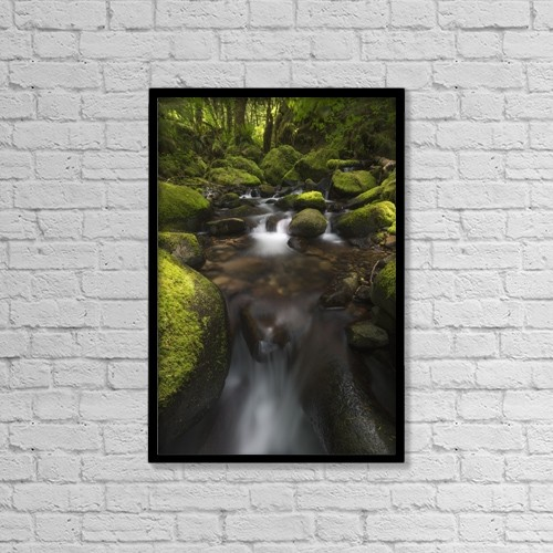 "Printscapes Wall Art: 12"" x 18"" Canvas Print With Black Frame - Ruckel Creek by Robert Postma"