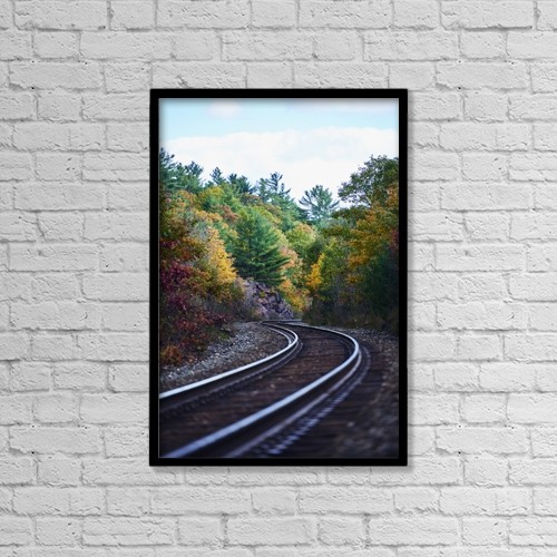 "Printscapes Wall Art: 12"" x 18"" Canvas Print With Black Frame - Transportation by Ian Crysler"