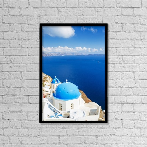 "Printscapes Wall Art: 12"" x 18"" Canvas Print With Black Frame - Creative Imagery by Design Pics Vibe"