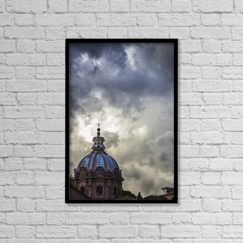 "Printscapes Wall Art: 12"" x 18"" Canvas Print With Black Frame - Christian Faith by Reynold Mainse"