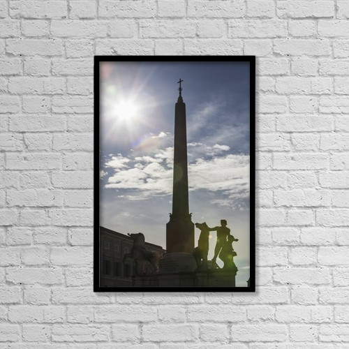 "Printscapes Wall Art: 12"" x 18"" Canvas Print With Black Frame - Christian Faith by Reynold Mainse"