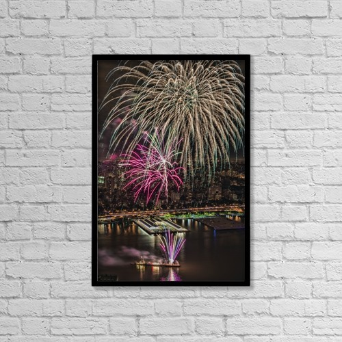 """Printscapes Wall Art: 12"""" x 18"""" Canvas Print With Black Frame - Special Occasions by F. M. Kearney"""