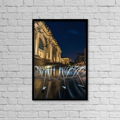 "Printscapes Wall Art: 12"" x 18"" Canvas Print With Black Frame - Architectural Exteriors by F. M. Kearney"