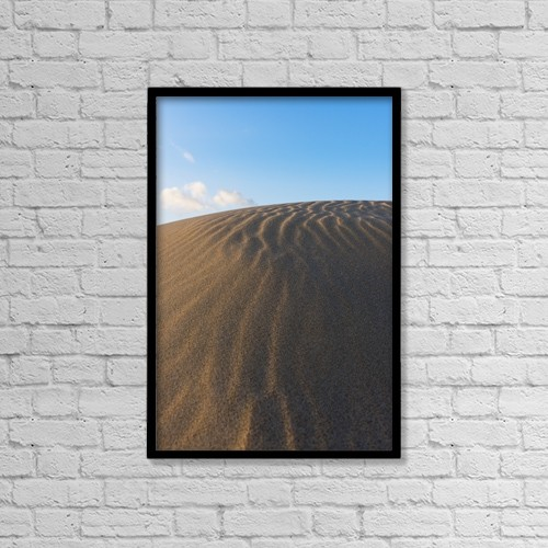 "Printscapes Wall Art: 12"" x 18"" Canvas Print With Black Frame - Punta Paloma Sand Dunes by Ben Welsh"