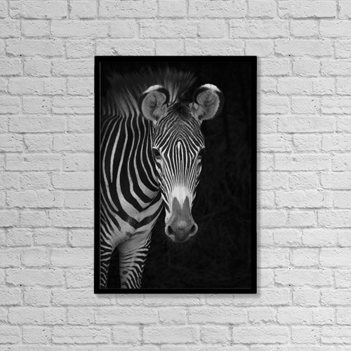 """Printscapes Wall Art: 12"""" x 18"""" Canvas Print With Black Frame - Animals by Nick Dale"""