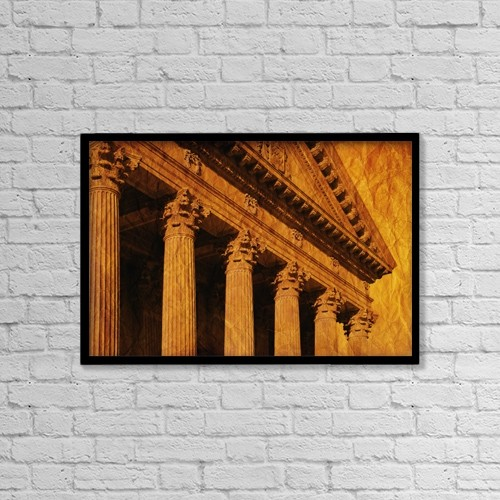 "Printscapes Wall Art: 18"" x 12"" Canvas Print With Black Frame - Architectural Exteriors by Don Hammond"