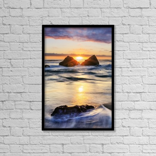 "Printscapes Wall Art: 12"" x 18"" Canvas Print With Black Frame - Scenic by Yves Marcoux"