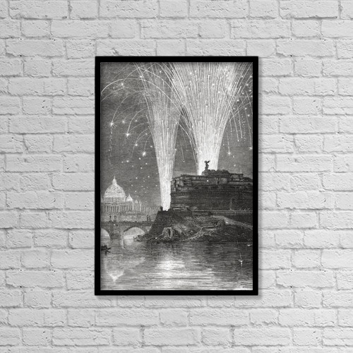 """Printscapes Wall Art: 12"""" x 18"""" Canvas Print With Black Frame - Illumination Of St by Hilary Jane Morgan"""