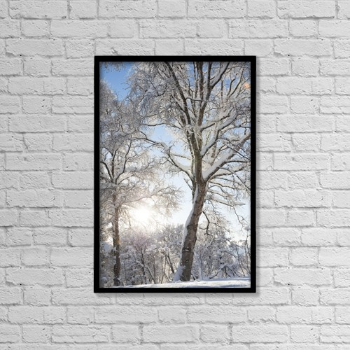"Printscapes Wall Art: 12"" x 18"" Canvas Print With Black Frame - Weather by Scott Dickerson"