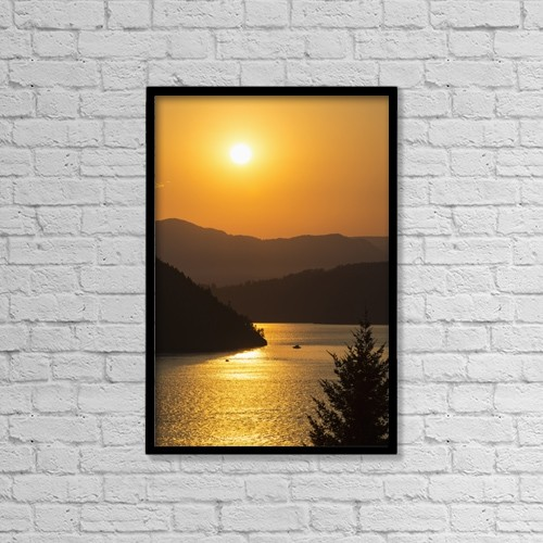 "Printscapes Wall Art: 12"" x 18"" Canvas Print With Black Frame - Scenic by Bill Collins"