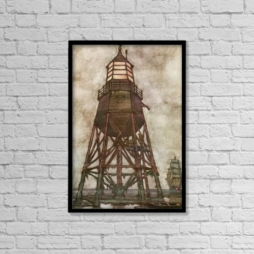 """Printscapes Wall Art: 12"""" x 18"""" Canvas Print With Black Frame - Illustration By W by Hilary Jane Morgan"""