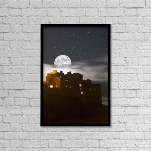 "Printscapes Wall Art: 12"" x 18"" Canvas Print With Black Frame - Astronomy by John Short"