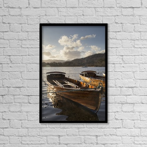"""Printscapes Wall Art: 12"""" x 18"""" Canvas Print With Black Frame - Nautical by John Short"""