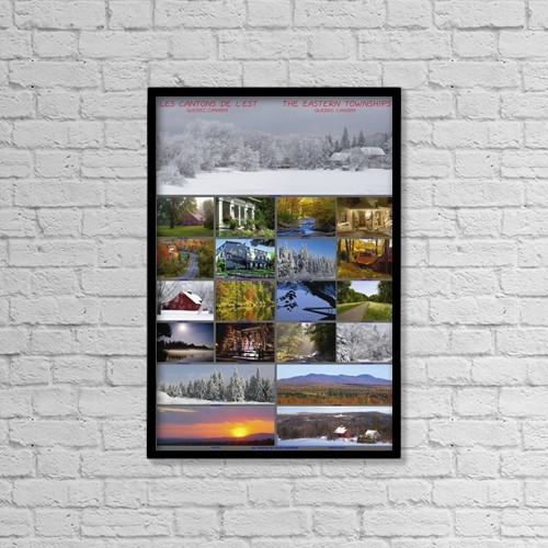 "Printscapes Wall Art: 12"" x 18"" Canvas Print With Black Frame - Travel by David Chapman"