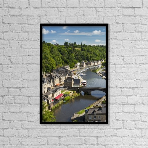 "Printscapes Wall Art: 12"" x 18"" Canvas Print With Black Frame - Travel by Michael Interisano"
