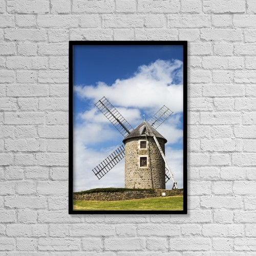 """Printscapes Wall Art: 12"""" x 18"""" Canvas Print With Black Frame - Architectural Exteriors by Michael Interisano"""