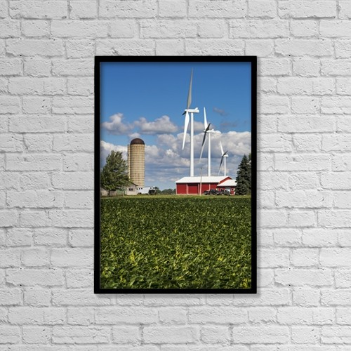 """Printscapes Wall Art: 12"""" x 18"""" Canvas Print With Black Frame - Agriculture by Michael Interisano"""