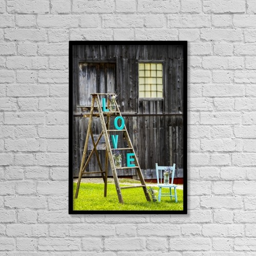 """Printscapes Wall Art: 12"""" x 18"""" Canvas Print With Black Frame - Concepts by Michael Interisano"""