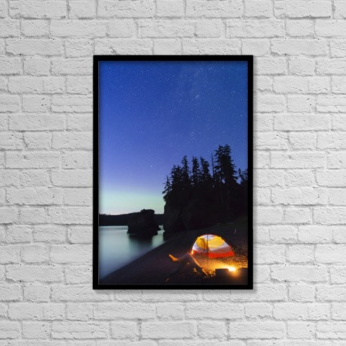 "Printscapes Wall Art: 12"" x 18"" Canvas Print With Black Frame - Sports and Recreation by Kevin G. Smith"