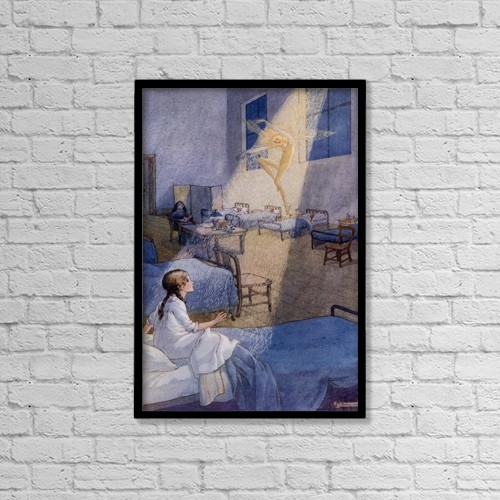 "Printscapes Wall Art: 12"" x 18"" Canvas Print With Black Frame - The Sand Fairy by Hilary Jane Morgan"