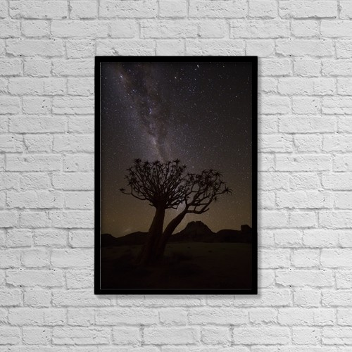 """Printscapes Wall Art: 12"""" x 18"""" Canvas Print With Black Frame - Astronomy by Robert Postma"""