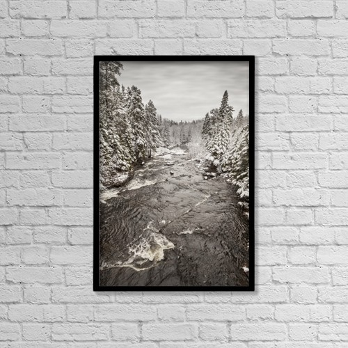 "Printscapes Wall Art: 12"" x 18"" Canvas Print With Black Frame - Winter Wonderland Landscape by Susan Dykstra"