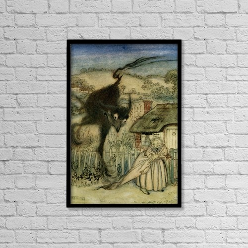 "Printscapes Wall Art: 12"" x 18"" Canvas Print With Black Frame - The Bogey Beast by Hilary Jane Morgan"