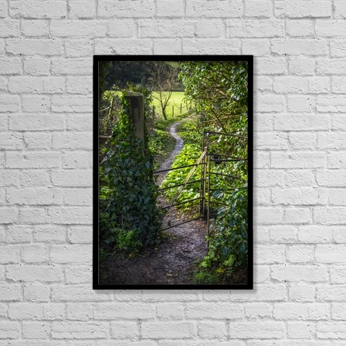 "Printscapes Wall Art: 12"" x 18"" Canvas Print With Black Frame - Scenic by Leah Bignell"