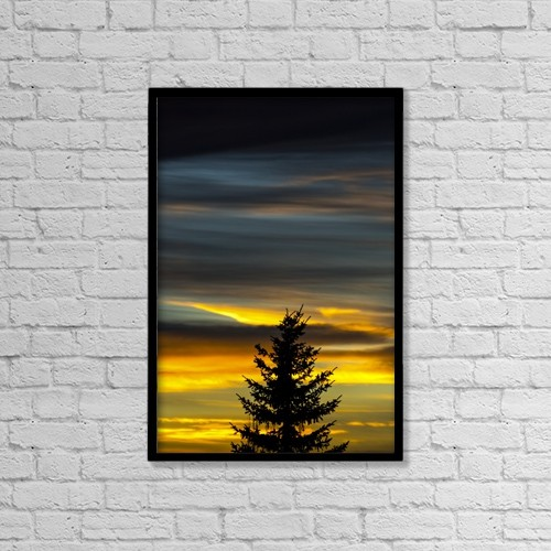 "Printscapes Wall Art: 12"" x 18"" Canvas Print With Black Frame - Scenic by Michael Interisano"