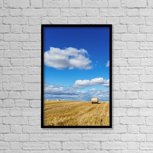 "Printscapes Wall Art: 12"" x 18"" Canvas Print With Black Frame - Agriculture by John Short"