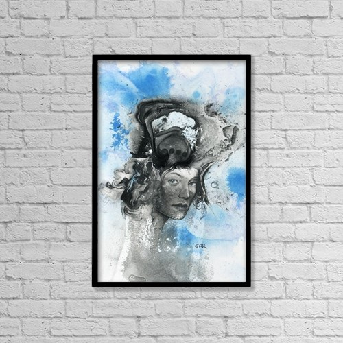 """Printscapes Wall Art: 12"""" x 18"""" Canvas Print With Black Frame - Artwork and Paintings by Glen Ronald"""