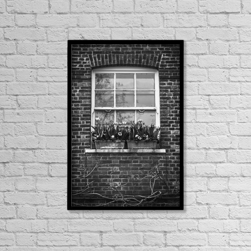 "Printscapes Wall Art: 12"" x 18"" Canvas Print With Black Frame - Architectural Exteriors by Leah Bignell"