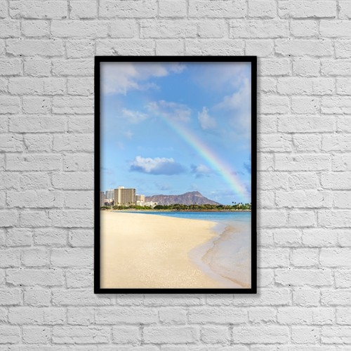 "Printscapes Wall Art: 12"" x 18"" Canvas Print With Black Frame - Travel by Brandon Tabiolo"