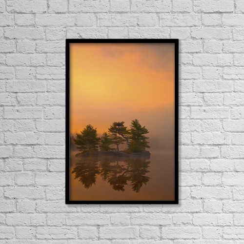 "Printscapes Wall Art: 12"" x 18"" Canvas Print With Black Frame - Scenic by Irwin Barrett"